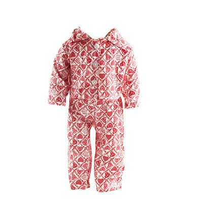 "Dolls Red Heart Pajamas Clothing for 18"" American Girl Journey My Life Gotz"