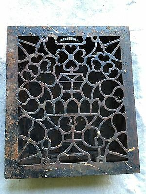 Cast Iron Ornate Furnace Register Grate Vent Fits 12 X 10 Opening Works Grate