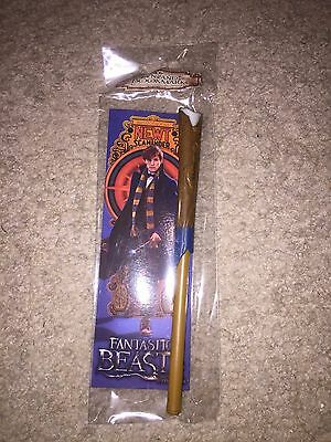 Nip Newt Scamander Fantastic Beasts Wand Pen & Bookmark Set I Ship Everyday