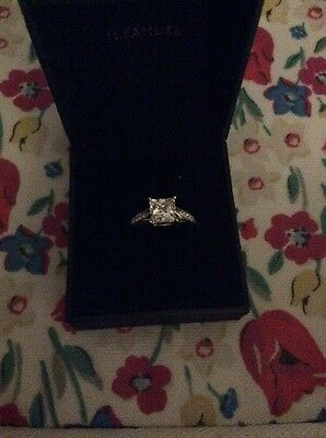 Princess Cut Cubic Zirconia Solitaire 9ct Yellow Gold Ring Stone Set Size O/P