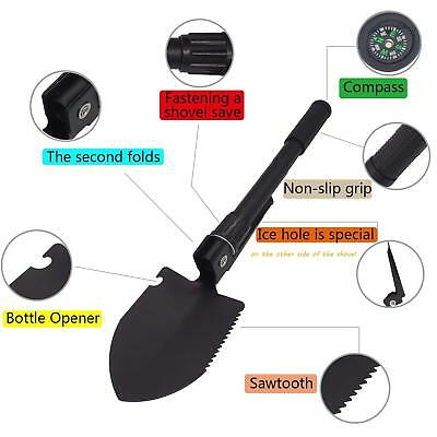 Folding Camp Shovel Entrenching Tool Compact Emergency Survival F08 N KNIVE NEW.