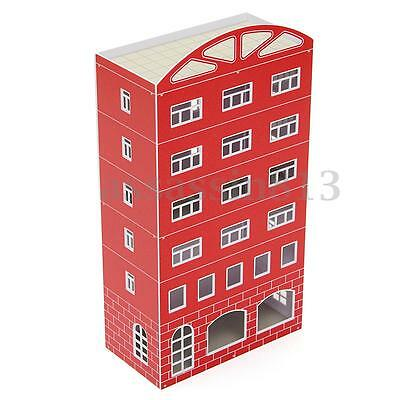 New 1/87 HO Scale Outland Scene Models Plastic Modern Red House Building
