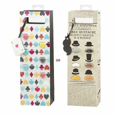 Giftworks - Not Just a Wine Bag Gift Set with Glass Marker Assorted Designs
