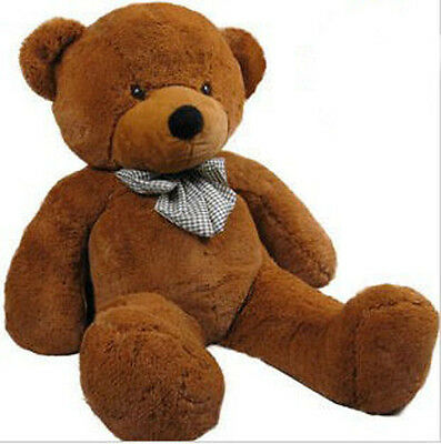 1.2m Tall Giant Huge Stuffed Teddy Bears Plush Doll Great Gift Dark Brown
