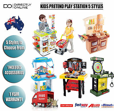 Kids Kitchen Pretend Role Play 5 Styles Supermarket Toy Tools Doctors Play Set