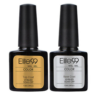 Elite99 Semipermanente Smalto Top Base Coat Gel UV LED Ricostruzione Unghie Arte