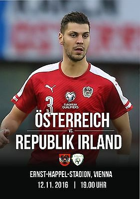 Programme Austria v Republic of Ireland 2016 World Cup Qualifying. Unofficial