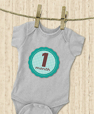 'MuchMore' Monthly Baby Stickers for Boy Milestones Shower Gift photo prop