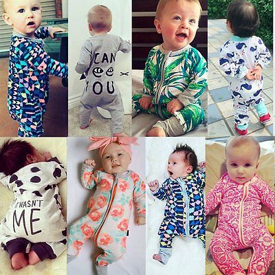 Toddler Newborn Infant Baby Girl Boy Romper Bodysuit Jumpsuit Clothes Outfits