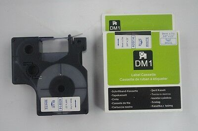 "1PK Blue on White Label Tape Compatible for DYMO D1 40914 3/8"" x 23' (9mm x 7m)"