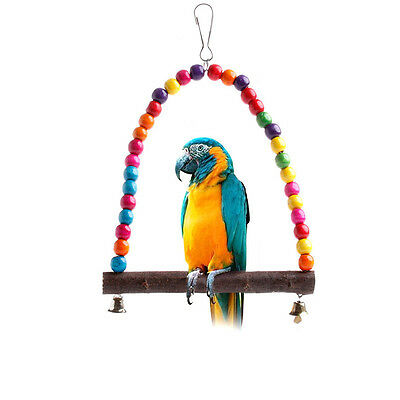 Colorful Bird Toy Parrot Swing Cage Toys For Parakeet Cockatiel Lovebird Budgie