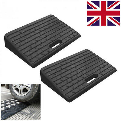 Portable Rubber Kerb Ramps for Car Motorbike Vehicle Wheelchair Access 2 Packs