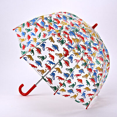Cath Kidston Children's Funbrella Clear Birdcage Umbrella - Dino Stamps