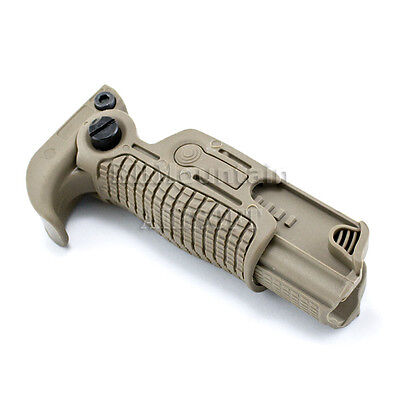 Tactical Foldable Foregrip for Pictionary Rail / TAN (KHM Airsoft)