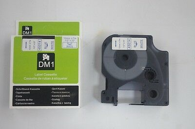 1PK Compatible for Dymo D1 45014 Blue on White 12mm x 7M Label Cassette