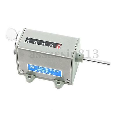 New 75-I Mechanical Resettable 5 Digits Display Rotary Revolution Counter