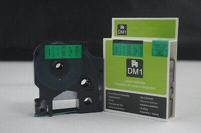 1PK Compatible for Dymo D1 45019 Black on Green 12mm x 7M Label Cassette