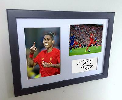 Signed Firmino Liverpool Autograph Photo Photograph Picture Frame memorabilia A4