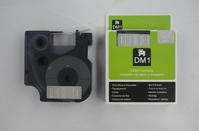 1PK Compatible for Dymo D1 45020 White on Clear 12mm x 7M Label Cassette