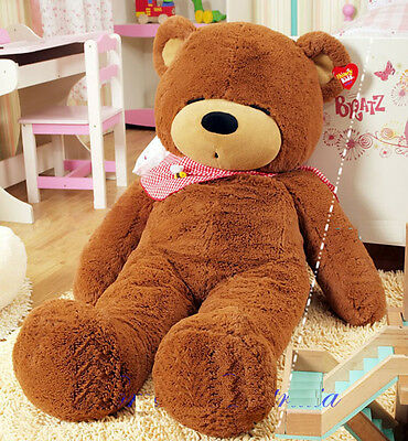 1.6m Tall Giant Huge Stuffed Teddy Bears Plush Doll Great Gift Dark Brown