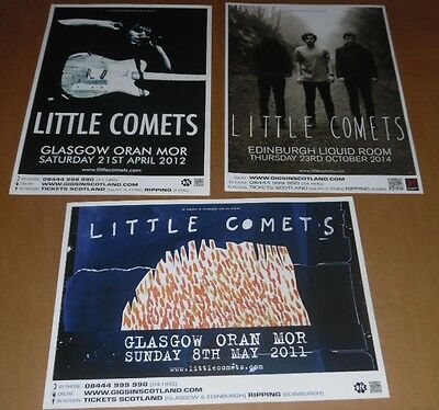 Little Comets posters - collection of 3 tour concert / gig poster
