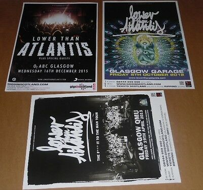 Lower Than Atlantis posters - collection of 3 tour concert / gig poster