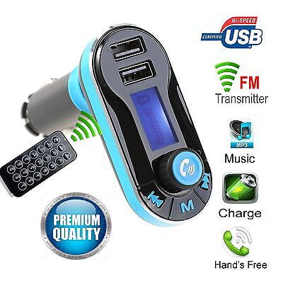 Car FM Transmitter Music MP3 Kit Wireless Bluetooth Radio Player With DUAL USB
