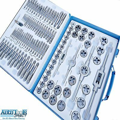 Professional 110 Pc Metric Tap and Die Set Alloy Steel TP096
