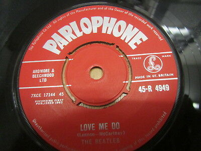 Beatles Love Me Do / Ps I Love You Uk 1St Zt Tax Code 1G / 1M Stampers Near Mint