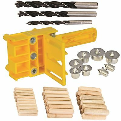 Silverline 56pc Wood Dowel Bit Set Jig 6 8 10mm Drill Centre Point E L T Joint
