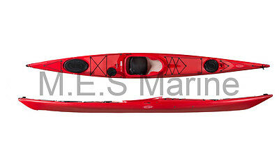 Tahe Marine Reval Midi PE Sit In Kayak Red All Round FREE Backrest/Paddle