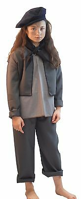 Victorian/OLIVER/Bert/Mary Poppins CHIMNEY SWEEP Grey 5 Piece - ADULT SIZES
