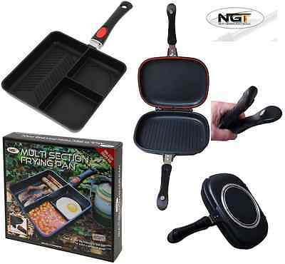 Ngt Multi Section Frying Pan Carp Fishing Camping + Xl Grilla Toastie Maker
