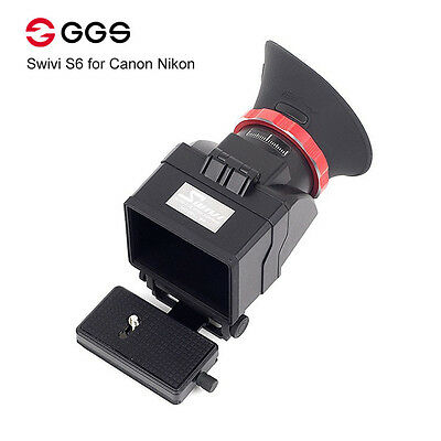 """GGS Swivi S6 Viewfinder with 3""""/3.2"""" LCD Screen for Nikon D7000 D7200 D750 D610"""