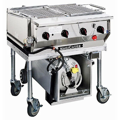 """MagiKitch'n LPAGA-30-SS 30"""" Magicater Transportable Gas Grill with Spark Ignitor"""