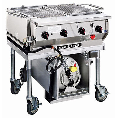 """MagiKitch'n LPAGA-60-SS 60"""" Magicater Transportable Gas Grill with Spark Ignitor"""