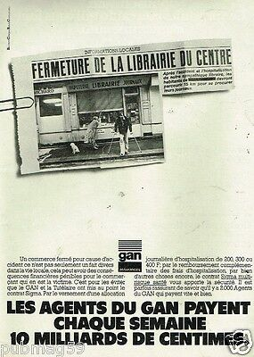 Publicité advertising 1979 Assurances GAN