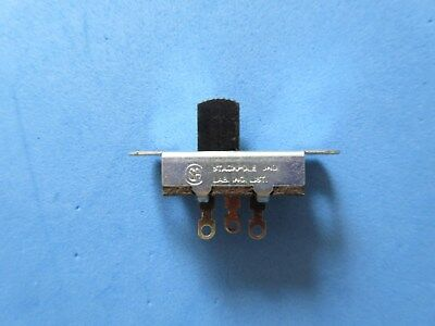 2pcs STACKPOLE SLIDE  SWITCH 4A 125V ac or 1A 125V dc  #SW4
