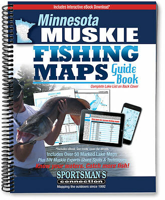 Minnesota Muskie Fishing Map Guide   2016 Edition - Sportsman's Connection