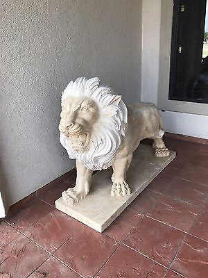 Hand Carved Set Of Marble Lions