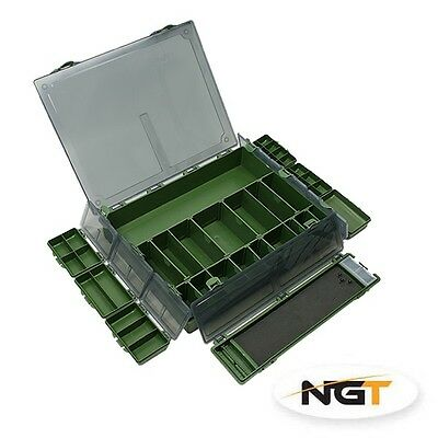 NGT Carp Specialist Fully Loaded Large Tackle Box System 7+1 Box Coarse Fishing