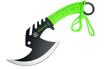 "Zomb-War 11.5"" Tactical Axe Stainless Steel Green"