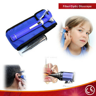 Bdeals Blue Fiber Optic Otoscope Mini Pocket Medical Ent Diagnostic Set