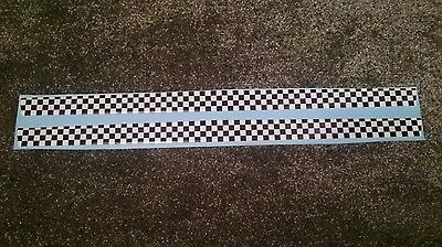 Fiesta Mk6 Zetec S Anniversary Domed Gel Bonnet Lip/stone Protector Chequered