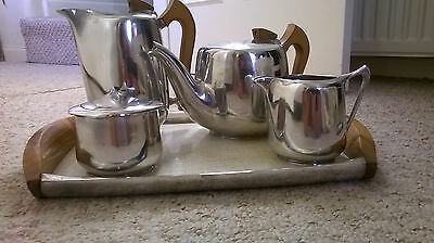 1950s Vintage Retro Picquot Ware Tea Coffee Set with Tray - ONE OWNER FROM NEW