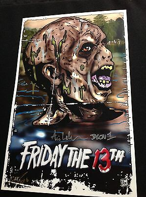 ARI LEHMAN Signed 11x17 Poster Art Print Jason Voorhees Friday the 13th BLOWOUT