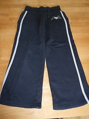 Girls, Dark Blue, 100% Cotton, Pocketed, Joggers.  Age 5-6 Years