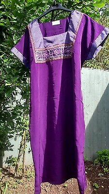 Hand Made Dress Tunic Purple Artisanat Zgharta Embroidery Work Experience Qualit