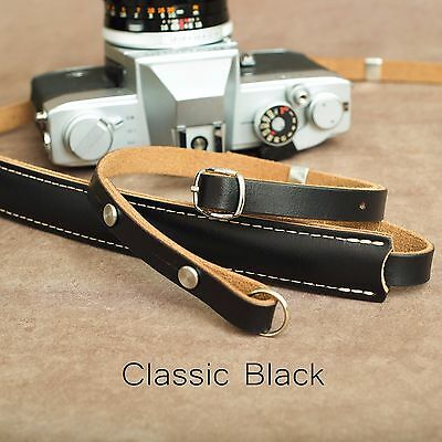 "1901 ""Steichen"" Leather Camera Strap - ADJUSTABLE 107-146cm - Classic Black"