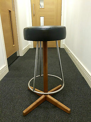 Danish Vintage Retro Swivel Breakfast Bar Stool 1950s